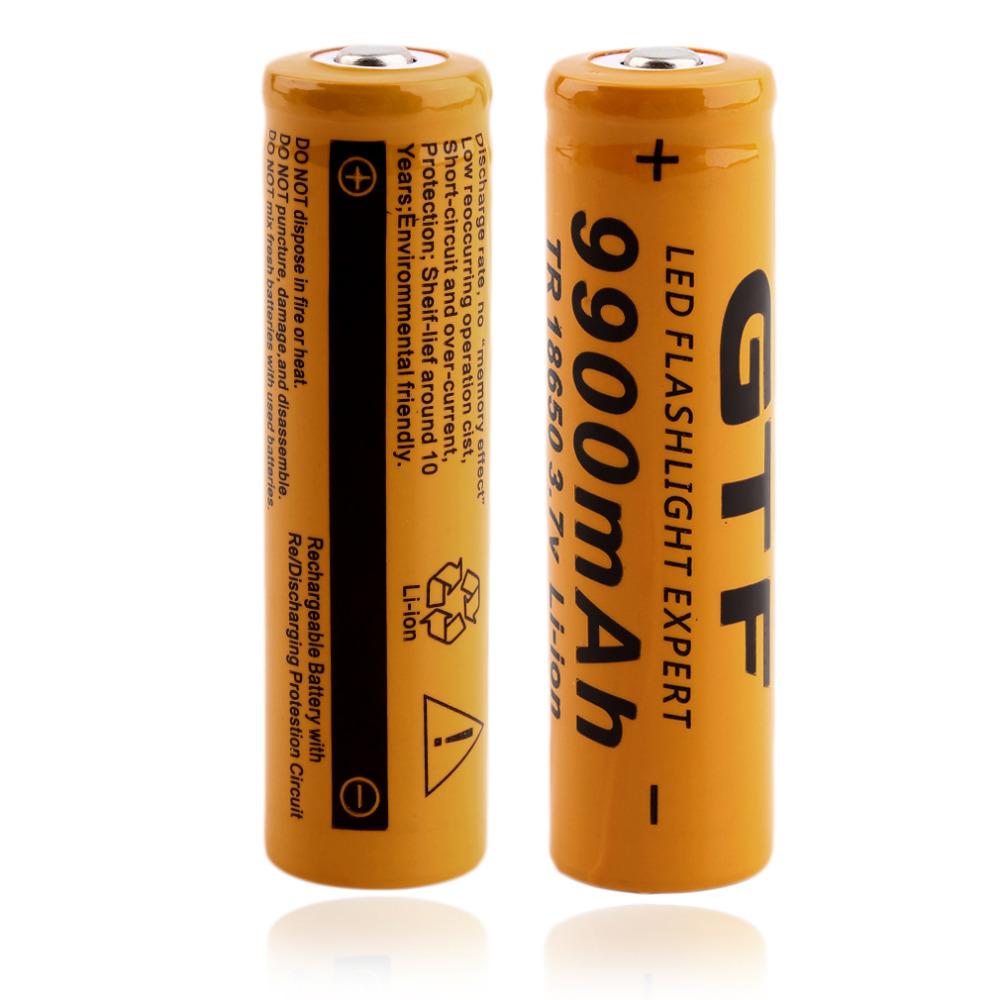 Batterier ladbare 18650 «9900mAh» 2 stk.