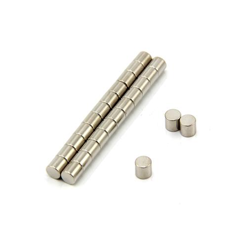 Magnet - Neodym sylinder 4 x 4 mm