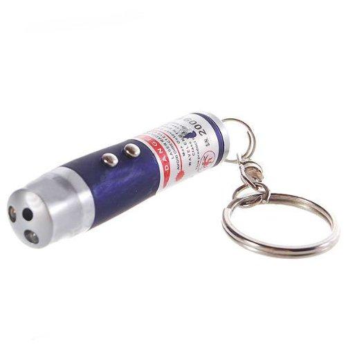 LED lommelykt - 3 i 1 – rød laser + hvitt lys + UV lys