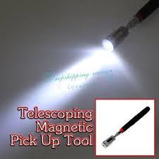 Magnetisk gripe verktøy - teleskopisk med lys