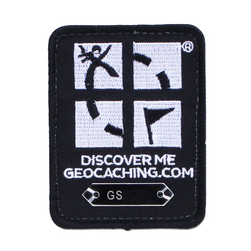 Patch sporbar geocaching logo