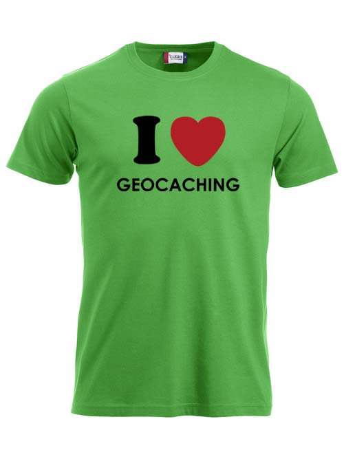 T-skjorte - I <3 Geocaching