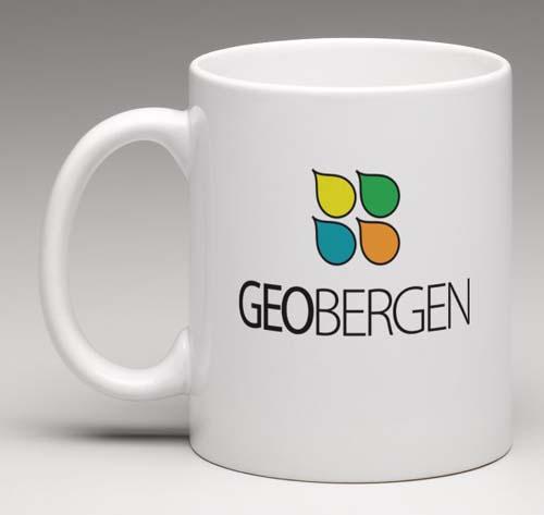 GeoBergen - Krus med logo på begge sider