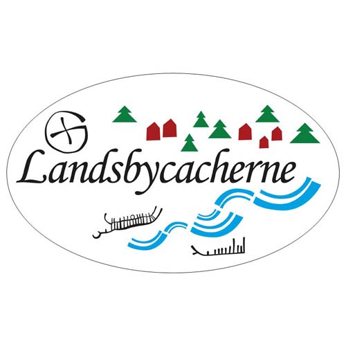 Landsbycacherne - Klistremerke