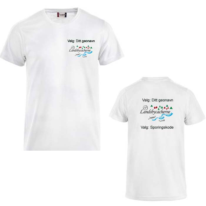 Landsbycacherne Herre T-skjorte polyester