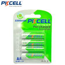 Batterier AA ladbare 2200mAh – (4 stk)