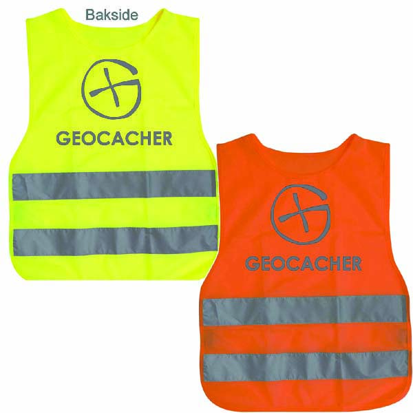 Refleksvest Geocacher reflekstrykk - voksen