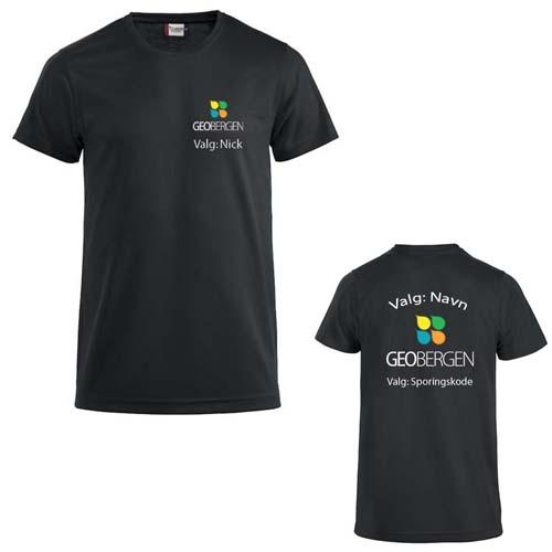 GeoBergen Herre T-skjorte polyester