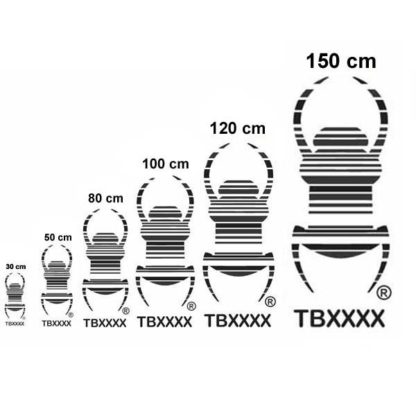 Travel Bug® XXXXL Klistremerke