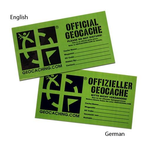 Cache etikett - Large