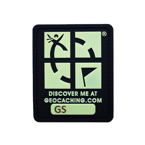 Patch sporbar geocaching logo Glow In The Dark