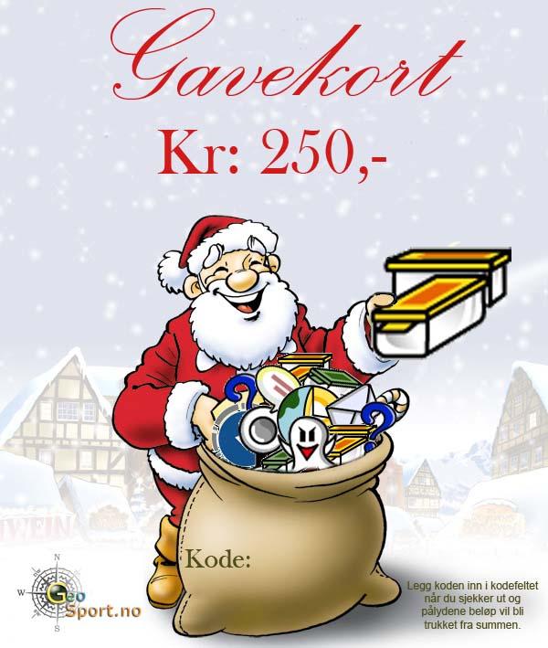 Gavekort kr: 250.-