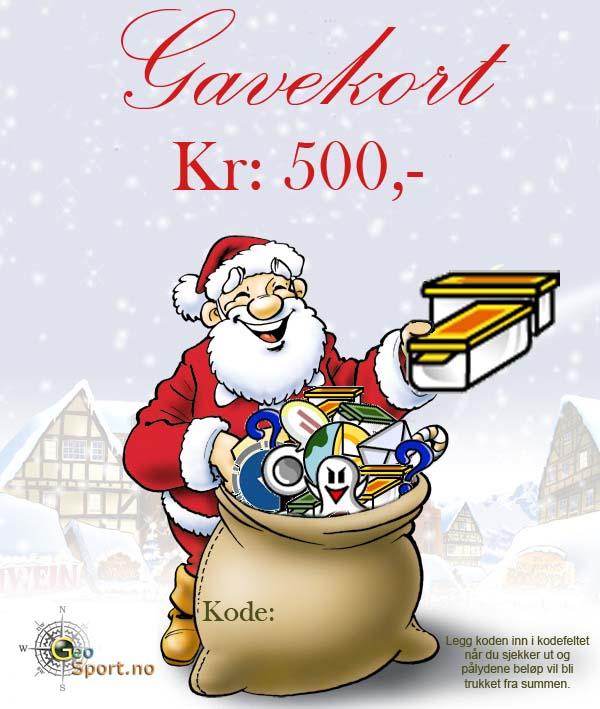 Gavekort kr: 500.-