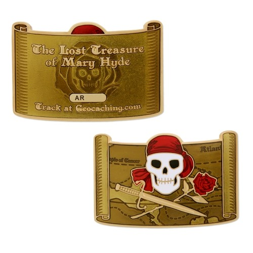 The Lost Treasure of Mary Hyde - Pirate Geocoin and Tag Set