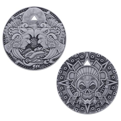 Aztec Pirate Geocoin- Antik Sølv - Begrenset opplag