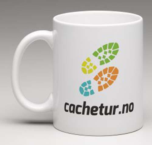 Cachetur.no - Krus med logo på begge sider