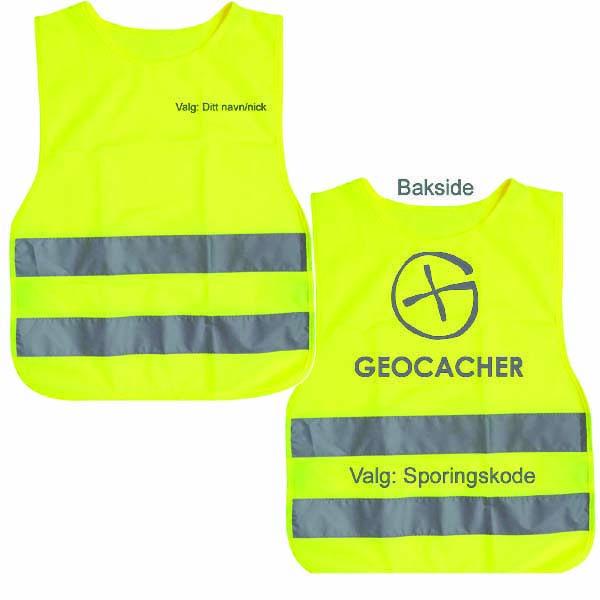 Refleksvest Geocacher reflekstrykk - barn