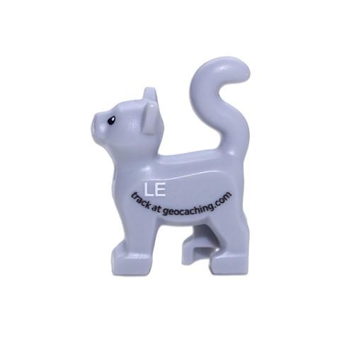 """Katt 2"""" lego figur med sporbar kode"""