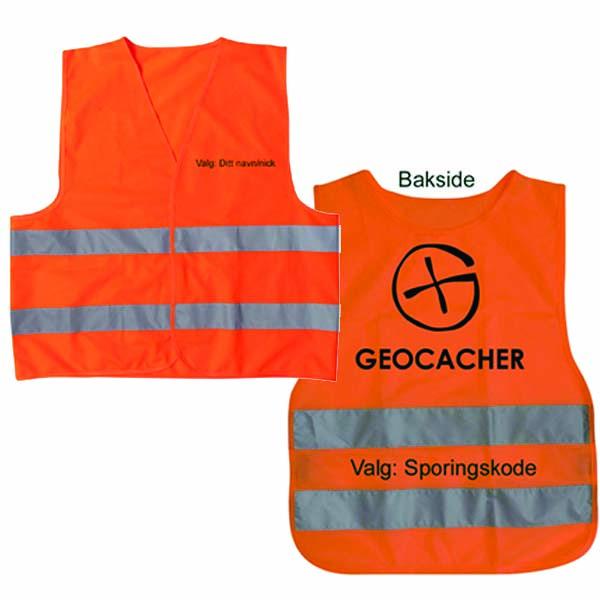 Refleksvest Geocacher - voksen