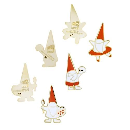 GIFF Micro Gnomes Geocoin Sett (sett av 3)