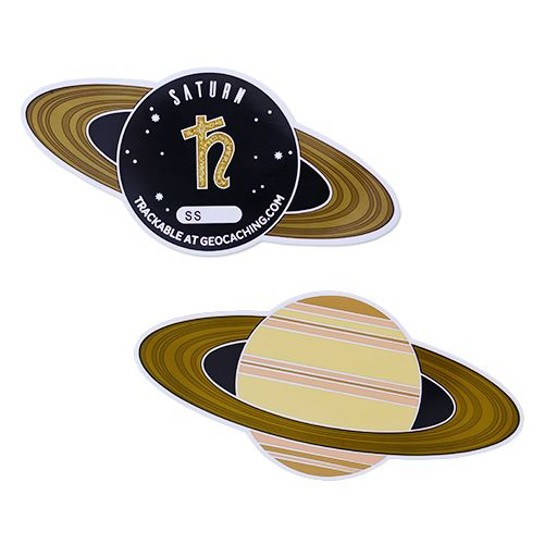 Solar System Geocoin- Saturn