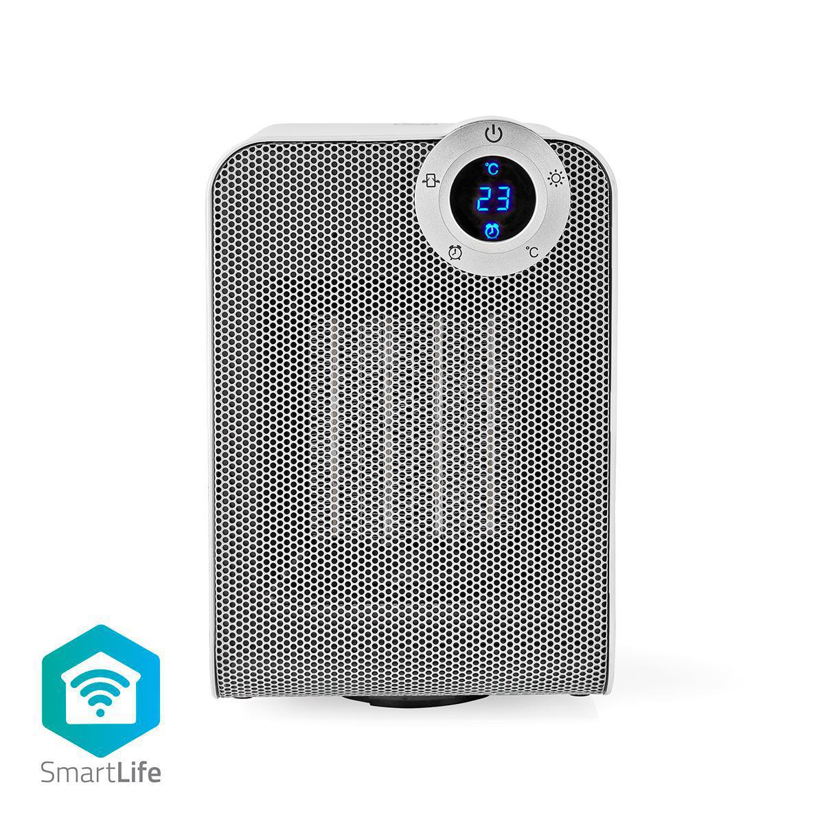 WiFi smartvifteovn Kompakt Oscillering 1800 W Hvit