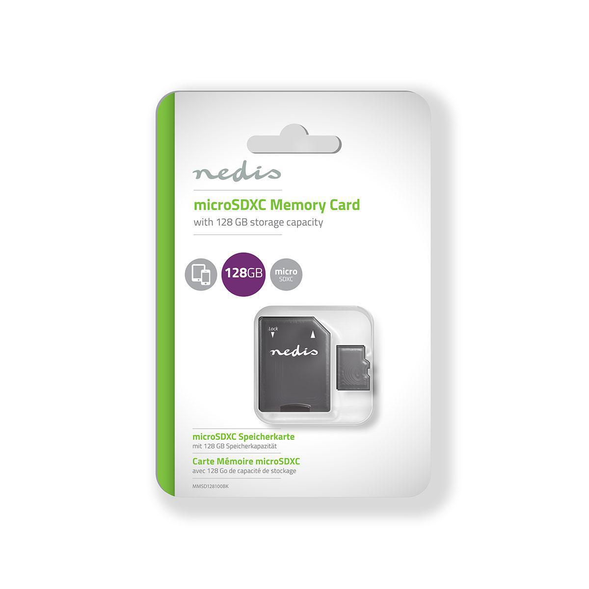 Minnekort microSDHC 128 GB 90 Mbps Klasse 10