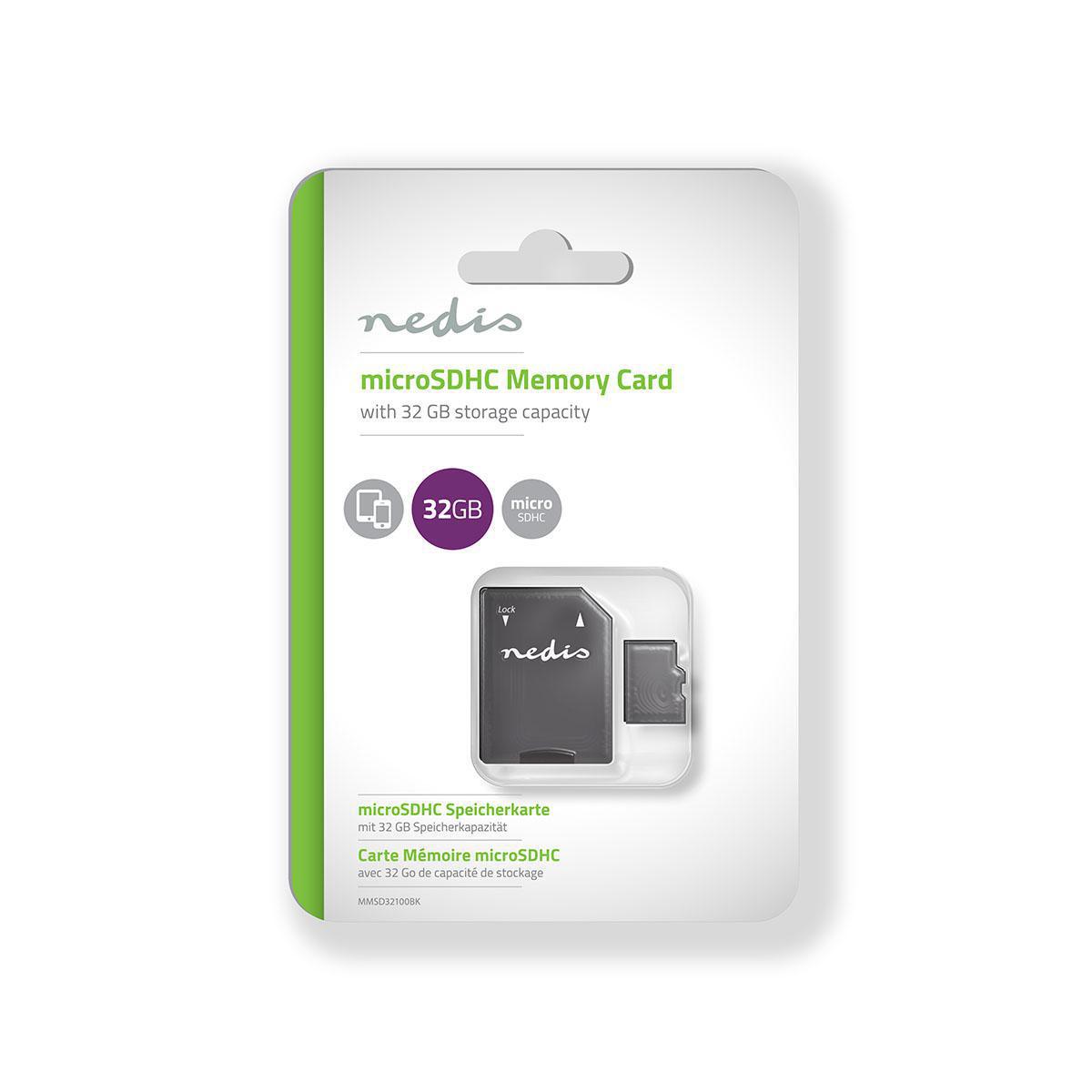 Minnekort microSDHC 32 GB 90 Mbps Klasse 10