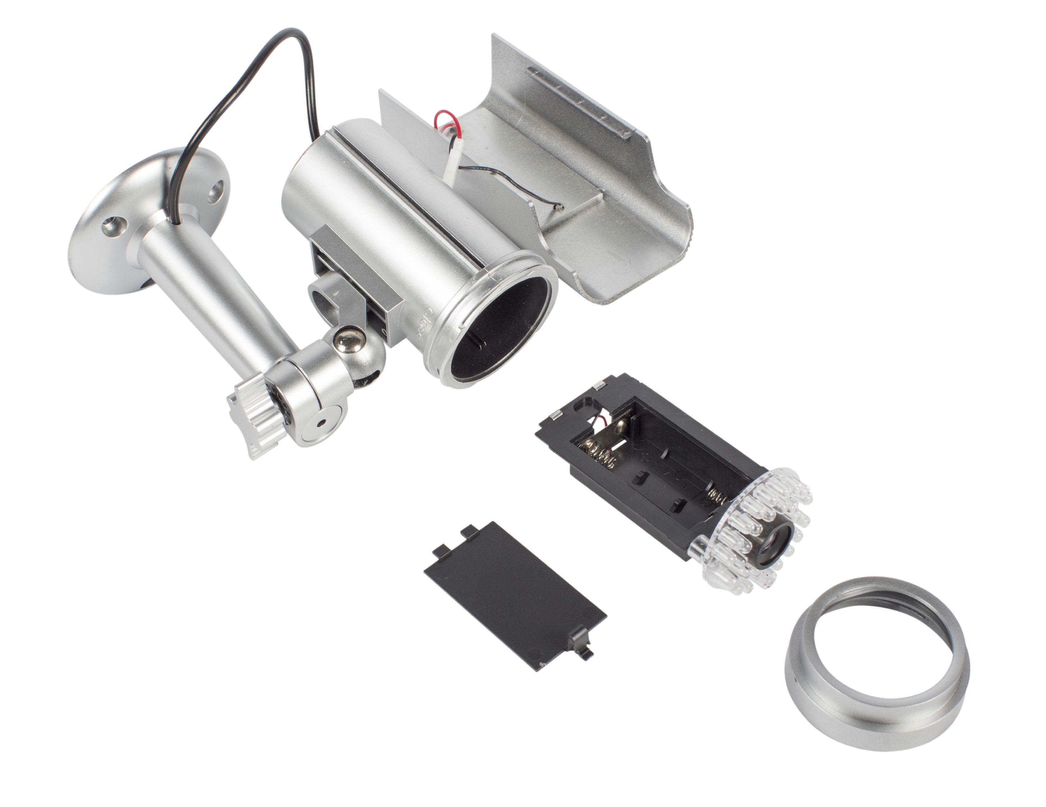 Dummy Kule Kamera IP44 Sølv