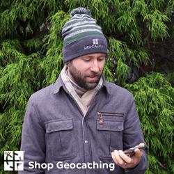 Topplue stripete - Geocaching logo