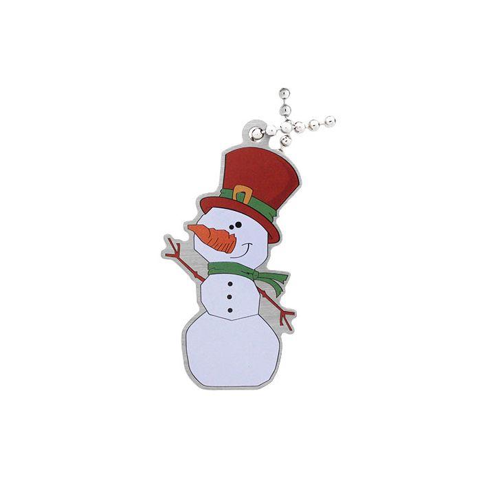 Slushy the Snowman Travel Tag